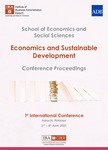 1st International Conference on Economics and Sustainable Development Conference Proceedings